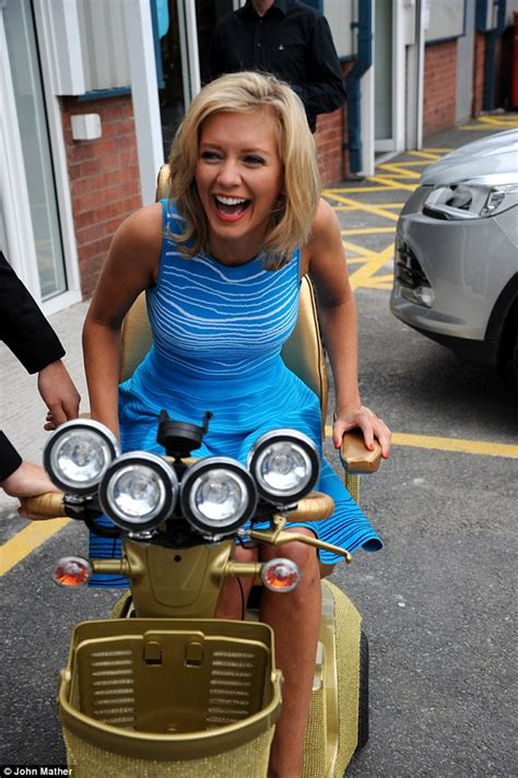 Rachel Riley showcases gold mobility scooter and Swarovski