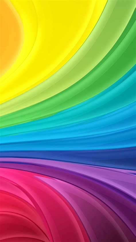 Wallpaper Colorful, Rainbow, Waves, 4K, Abstract, #1008