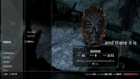 Skyrim - How to find the Nahkriin Dragon Priest Mask - YouTube