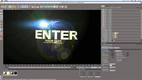 Universal Intro Cinema 4D Template Tutorial[HD] by
