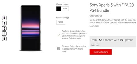 Get Your Vodafone Sony Xperia 5 & PS4 Bundle Now