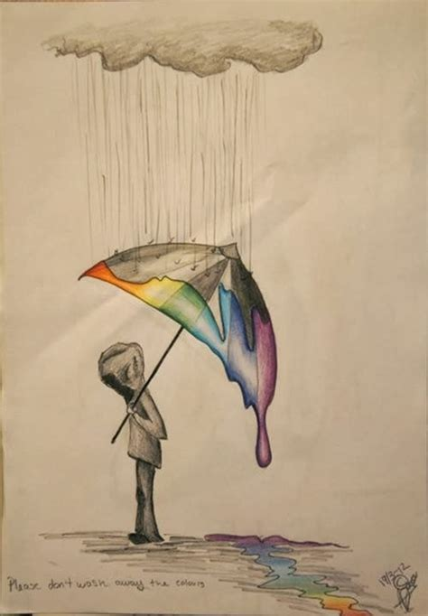 40 Creative And Simple Color Pencil Drawings Ideas