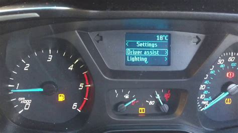 How to reset tyre pressure light - Ford Tourneo - YouTube
